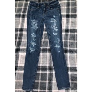 American eagle distressed jeans size 00